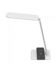 SKU-8519 7W LED Table Lamp With Wireless Charger 3in1 White - 8519 - SKU-8519