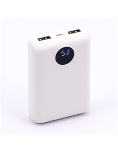 SKU-8187 Power Bank 10K con Display Colore Bianco - 8187 - SKU-8187