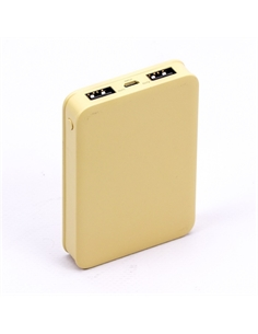 SKU-8196 Power Bank 5K Colore Giallo - 8196 - SKU-8196