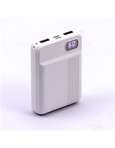 SKU-8851 Power Bank 10K con Display Colore Bianco - 8851 - SKU-8851