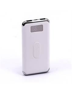 SKU-8854 Power Bank 10K con Display e Ricarica Wireless Colore Bianco - 8854 - SKU-8854