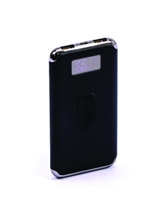 SKU-8855 Power Bank 10K con Display e Ricarica Wireless Colore Nero - 8855 - SKU-8855
