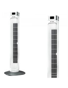 SKU-7900 55W TOWER FAN 910MM CON DISPLAY TEMPERATURA E TELECOMANDO 55W COLORE BIANCO - 7900 - SKU-7900