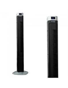 SKU-7901 55W TOWER FAN 1160MM CON DISPLAY TEMPERATURA E TELECOMANDO COLORE NERO - 7901 - SKU-7901