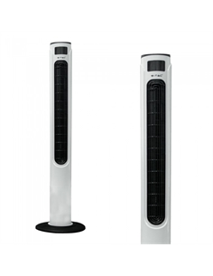 SKU-7902 55W TOWER FAN 1160MM CON DISPLAY TEMPERATURA E TELECOMANDO COLORE BIANCO LUCIDO - 7902 - SKU-7902